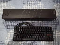 Kit teclado mecânico redragon e mouse pad gamer