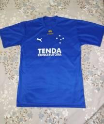 Camisa Básica Cruzeiro - Puma Azul/Dourado