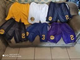 Bermuda de basquete NBA R$ 49,99/ Camisa de Basquete R$ 39,99 ou 2 R$ 69,99