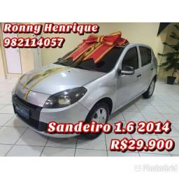 $$ Renault Sandero 1.6  Completo R$ 29.900 $$ Promoção $$