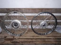 Rodas de ferro  moto Honda fan 150 traseira dianteira