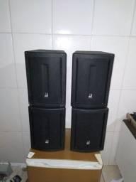 2 pares de caixas de som