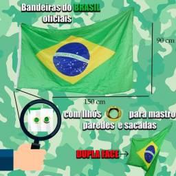 Título do anúncio: 3 por 55 Bandeira do Brasil com ilhós,90x150cm