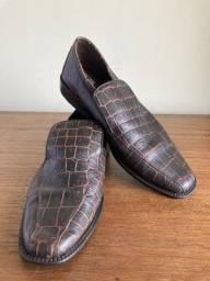 Sapato social masculino marrom xadrez tam 43