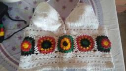 Vendo essa blusas de crochê da Jamaica novo