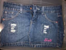 Saia Jeans Barbie Infantil 12