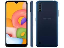 Smartphone Samsung Galaxy A01 32GB Azul Octa-Core - 2GB RAM Tela 5,7