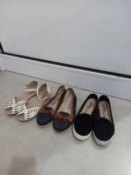 Sapatilhas e sandália