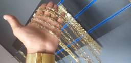 Cordão De Moeda antiga,  única cor idêntica a ouro 18k