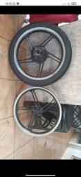Roda scud cm pneu novo remold