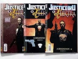 Justiceiro e Elektra n. 7, 8, 9 (pacote)    [Marvel | HQ Gibi Quadrinhos]