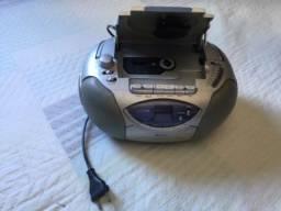 Rádio cd e toca fita