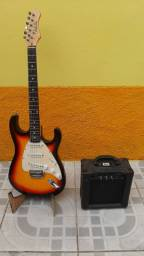 Kit Guitarra com Amplificador. Parcelo