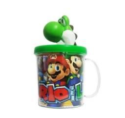 Título do anúncio: Boneco Yoshi Do Super Mario Bros+Caneca Personalizada - Loja Natan Abreu Serra