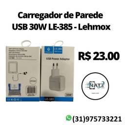 Carregador para iphone USB 30W LE-385 - Lehmox