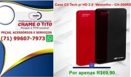 Case C3 Tech p/ HD 2.5´ Vermelho ou preto- CH-200RD