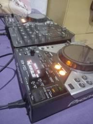 Kit Cdj 400 Pioneer  + Mixer VMX 200