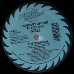 Vinil 12'' Concept Of One Featuring Noel The Question