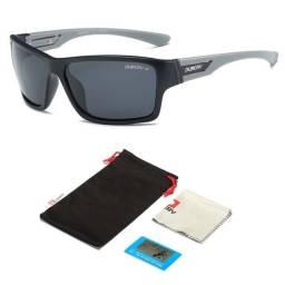 Óculos De Sol Quadrado Feminino Masculino Polarizado UV400 Anti Reflexo 2071