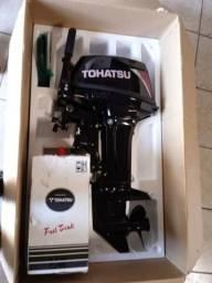 Motor de popa Tohatsu 18 HP zero na caixa + carrinho + capas +brindes