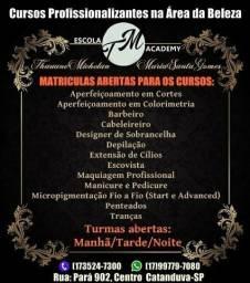 Matrícula aberta para cursos profissionalizantes na área da beleza (CATANDUVA-SP)
