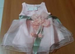 Vestido Bebê Laço Dress Menina - M.Souza Menor Preço - Princesa - Frete Grátis