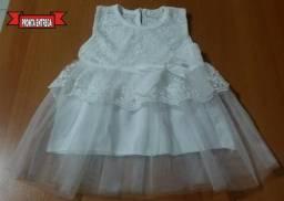 Vestido Renda Menina Bebê - M.Souza Menor Preço - Princesa - Frete Grátis