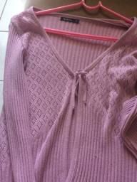 Casaco em tricô tamanho p 10 reais
