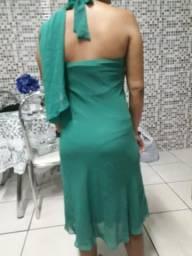 Vestido verde chique