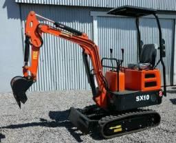 Miniescavadeira Semax SX10 - 1 TON - Nova 0km - Tipo Bob cat