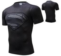 Camisa Compressão Superman Liga Da Justiça Bike Mma Corrida