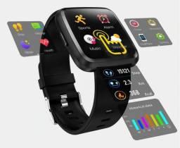 Relógio inteligente Colmi Cy7 Pro android Ios 12x cartão entrega