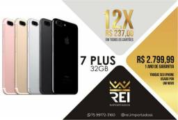 IPhone 7 Plus 32GB Novo + Brindes 12x 237,00