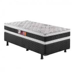 Cama solteiro box base + colchão de molas ensacadas 12x R$ 109.00