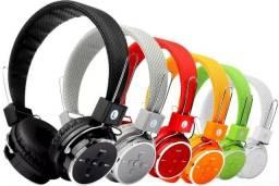 Fone de ouvido Bluetooth/SD/FM/P2 Novo (entrego)