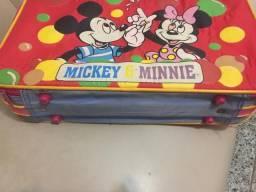 Mala bolsa infantil mickey e minie