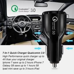 Carregador veicular 3.1 turbo fast charger QC3.0