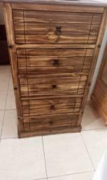 Oferta Imperdível Cômoda com 5 gavetas toda em madeira