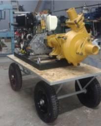 Bomba Draga de 3 com motor Diesel de 10 cv com redutor
