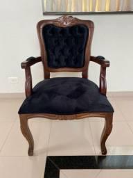 Poltrona Luis XV padrão imbuia