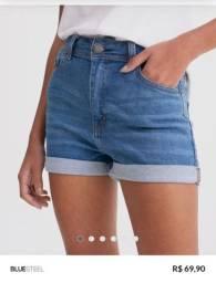 Short jeans hot pants tamanho 36