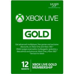 Xbox Live Gold + Game Pass 12 Meses