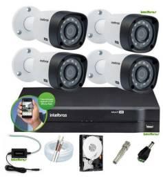 Kit 04 Cameras de Seguranca Intelbras- Acompanhe Online