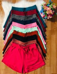 Shorts de Malha canelada
