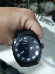 Relógio empório armani novinho aço negro original