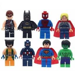 Bonecos Bonequinho Vingadores Marvel Dc Heróis Compatível Brinquedo Coleção Minifigura