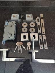 Kit Fechadura Trava Segurança Anti Arrombamento