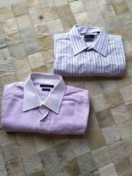 2 Camisas Sociais Masculinas por R$30,00 (Tamanho G)