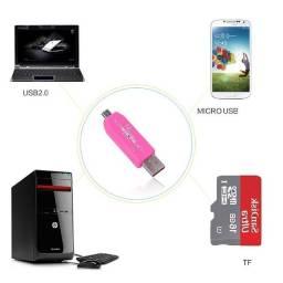 Otg Smart Card Reader 2.0 Hub para USB e Micro SD