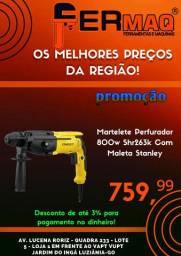 Martelete Profissional Perfurador Stanley 800w 220v C Maleta